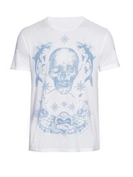 Alexander Mcqueen Tattoo And Skull Print T Shirt