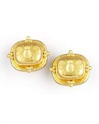 19K Gold Bee Clip Post Earrings Elizabeth Locke