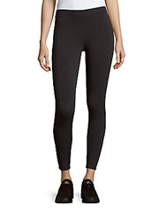 Saks Fifth Avenue Solid Cropped Pants Charcoal