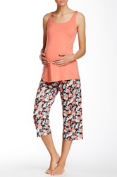 Majamas Breakfast Maternity Nursing Pj Set Multi