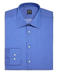 Ike Behar Pinstripe Regular Fit Dress Shirt Blue
