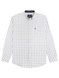 Joules Wilby Classic Fit Oxford Shirt Blue Overcheck