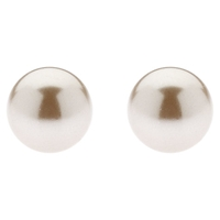 Finesse Classic 8Mm Pearl Stud Earrings Bronze