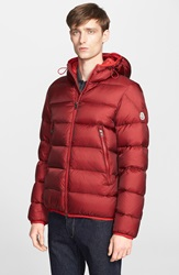 Moncler 'Chauvon' Quilted Down Jacket Red Orange