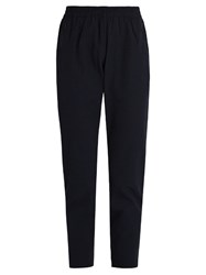 Outdoor Voices X A.P.C High Rise Slim Leg Performance Trousers Navy