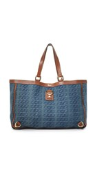 Wgaca Gucci Denim Abbey Tote Previously Owned Blue