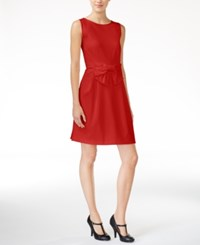 Maison Jules Bow Detail Fit And Flare Dress Only At Macy's Banner Red