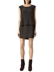 Allsaints Anya Dress Bark Brown