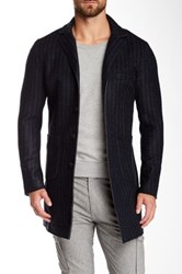 Mason Striped Raw Edge Blazer