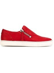 Diesel Zipped Sneakers Red
