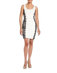 Guess Colette Lace Overlay Dress Ivory Black