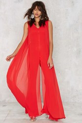 Nasty Gal Lavish Alice Float On Flare Jumpsuit