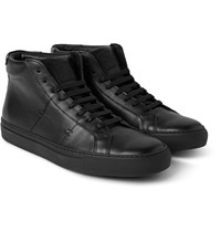 Greats The Royale Leather High Top Sneakers Black