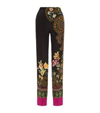 Etro Floral Print Palazzo Trousers Female Black