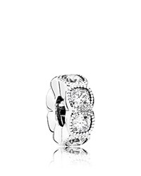 Pandora Design Spacer Sterling Silver And Cubic Zirconia Alluring Moments Collection
