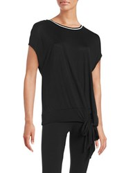 Bench Tie Accented Knit Top Black