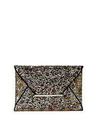 Bcbgmaxazria Harlow Sequined Envelope Clutch Silver