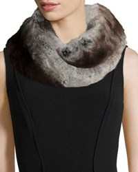 Neiman Marcus Faux Fur Infinity Scarf Gray
