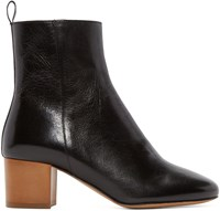 Isabel Marant Black Leather Drew Ankle Boots