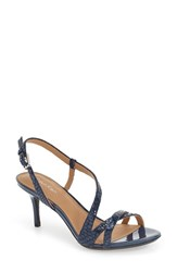 Calvin Klein Women's 'Lorren' Leather Sandal Marine Snake Print Leather