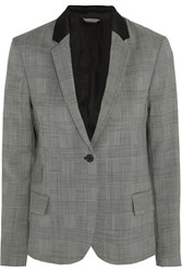Toteme Imola Houndstooth Wool Blend Blazer Gray