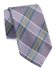 Vince Camuto Plaid Silk Tie Purple