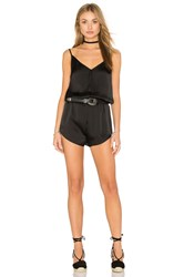 Craft And Commerce Satin Washed Romper Black