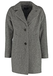 Comma Classic Coat Grey Melange Mottled Grey
