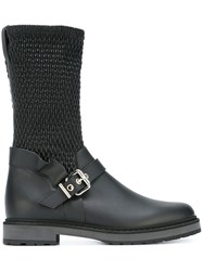 Fendi Smocked Boots Black