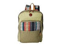 Roxy Camp Fire Backpack Military Olive Backpack Bags
