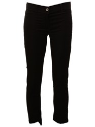 Ann Demeulemeester Cropped Trousers Black