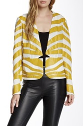 Paperwhite Collections Faux Leather Jacket Yellow