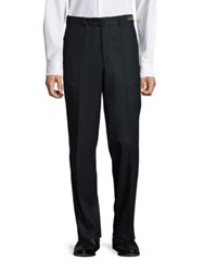 Saks Fifth Avenue Flat Front Wool Pants Charcoal