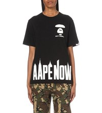 Aape By A Bathing Ape Logo Print Cotton Jersey T Shirt Black