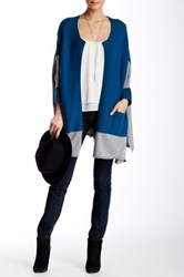 Lulu Colorblock Open Front Cardigan Multi