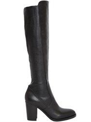 Strategia 80Mm Stretch Leather Knee High Boots