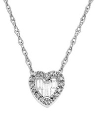 Lord And Taylor 14K White Gold Heart Pendant