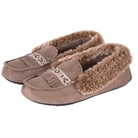 Totes Woodlands Moccasin Slippers Taupe
