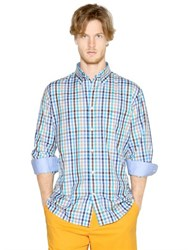Paul And Shark Checked Cotton Poplin Button Down Shirt