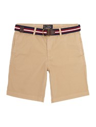 Howick Boston Chino Flat Front Short Biscuit