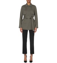 Reiss Nadia Belted Woven Mac Pine