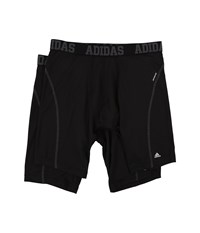 Adidas Sport Performance Climacool 9 Inch 2 Pack Midway Black Thunder Black Thunder Men's Underwear
