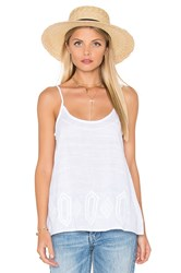 Michael Stars Embroidery Cami Swing Tank White