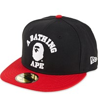 A Bathing Ape Bathing Ape Fitted Cap Black