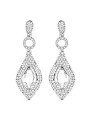 Mikey Marquise Oval Centre Stone Earring