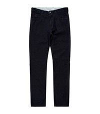 Canali Crest Detail Jeans Male Black