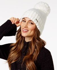 Bcbgeneration Thick And Thin Pom Pom Beanie Only At Macy's Optic White