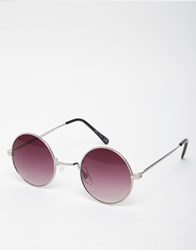 Jeepers Peepers Round Sunglasses With Smoke Lenses Silver