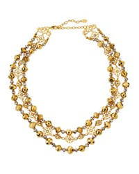 Jose And Maria Barrera Two Tone Triple Row Collar Necklace Women's