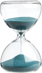 Cb2 5 Minute Turquoise Hour Glass